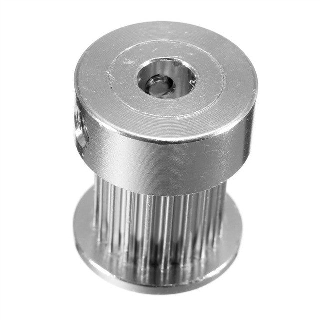 Aluminum GT2 Timing Pulley - 10 mm belt - 20 Tooth - 5mm Bore - Digitmakers.ca providing 3d printers, 3d scanners, 3d filaments, 3d printing material , 3d resin , 3d parts , 3d printing services