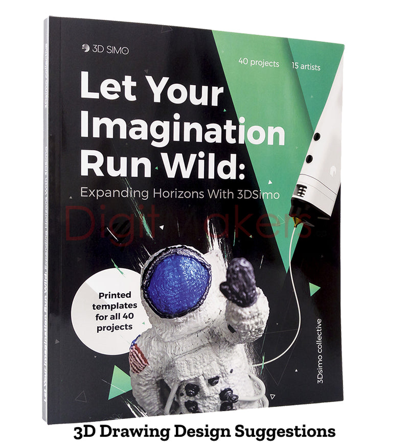 3DSIMO Book - Let Your Imagination Run Wild: Expanding Horizons - Digitmakers.ca providing 3d printers, 3d scanners, 3d filaments, 3d printing material , 3d resin , 3d parts , 3d printing services