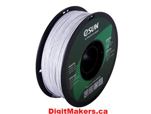 ESun  eMarble PLA  Filament 1.75mm 1kg - Digitmakers.ca providing 3d printers, 3d scanners, 3d filaments, 3d printing material , 3d resin , 3d parts , 3d printing services
