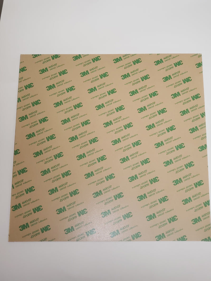 PEI Sheet 1 mm Thick with 486MP 3M Adhesive Backing - Digitmakers.ca providing 3d printers, 3d scanners, 3d filaments, 3d printing material , 3d resin , 3d parts , 3d printing services
