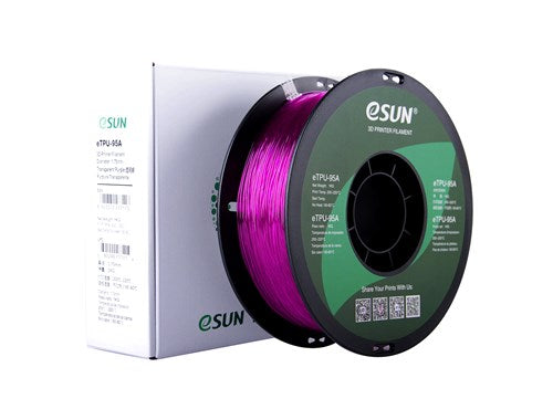 eSun eTPU-95A Filament 1.75mm 1kg Various Colors - Digitmakers.ca providing 3d printers, 3d scanners, 3d filaments, 3d printing material , 3d resin , 3d parts , 3d printing services