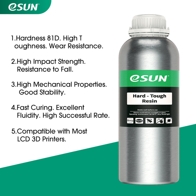 ESUN Hard-tough Resin For LCD Printer 500g - various colors - Digitmakers.ca providing 3d printers, 3d scanners, 3d filaments, 3d printing material , 3d resin , 3d parts , 3d printing services