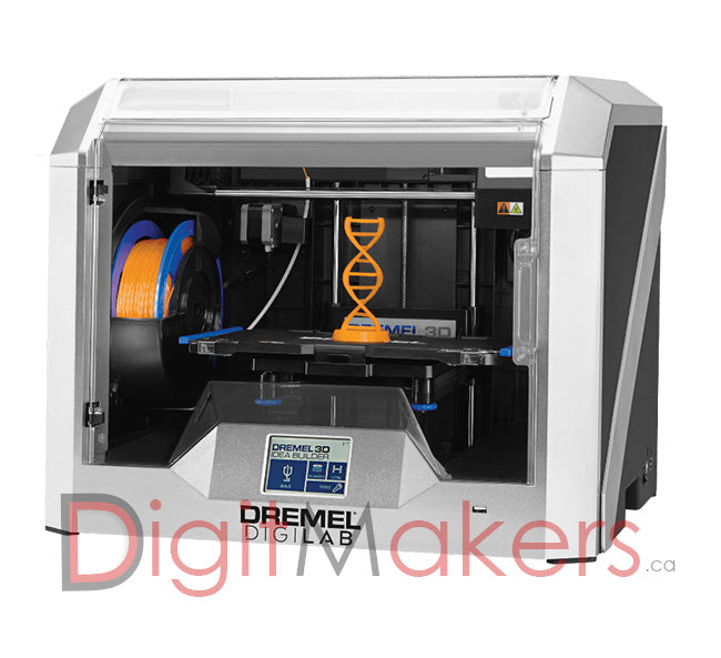 DREMEL DIGILAB 3D40 3D Printer with Flex Plate - Digitmakers.ca providing 3d printers, 3d scanners, 3d filaments, 3d printing material , 3d resin , 3d parts , 3d printing services