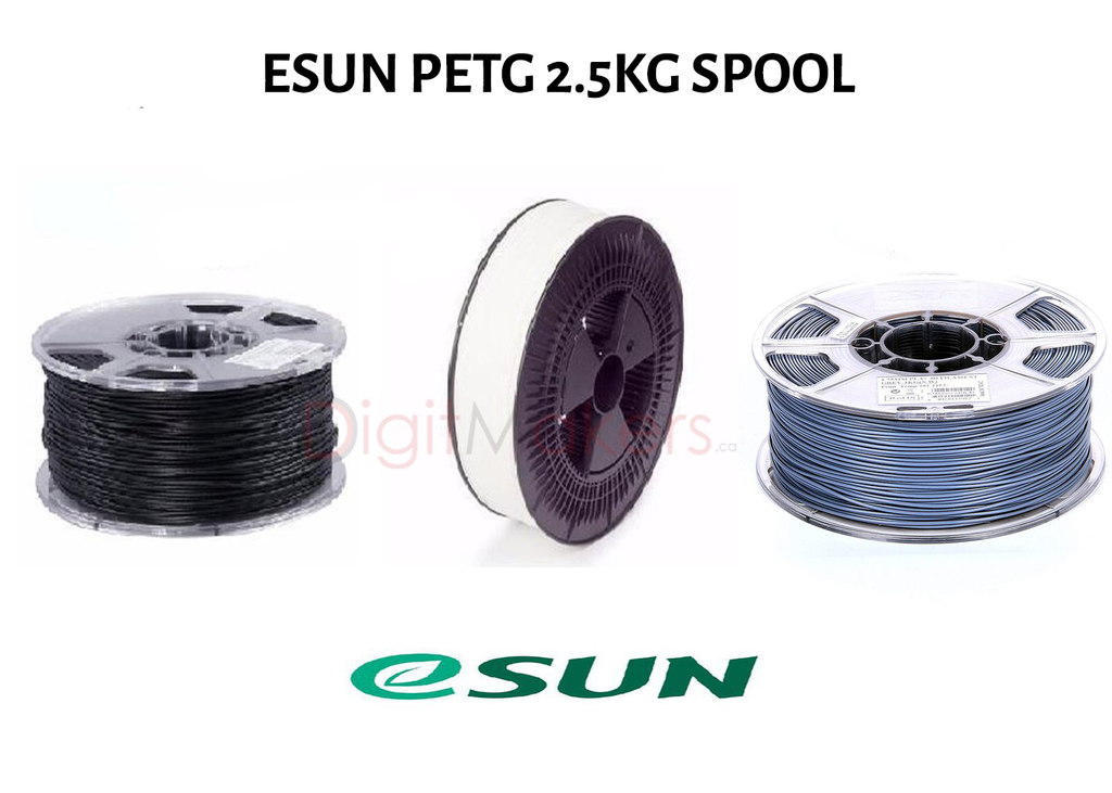 ESun PETG 2.85 mm 2.5kg spool- various colors - Digitmakers.ca providing 3d printers, 3d scanners, 3d filaments, 3d printing material , 3d resin , 3d parts , 3d printing services