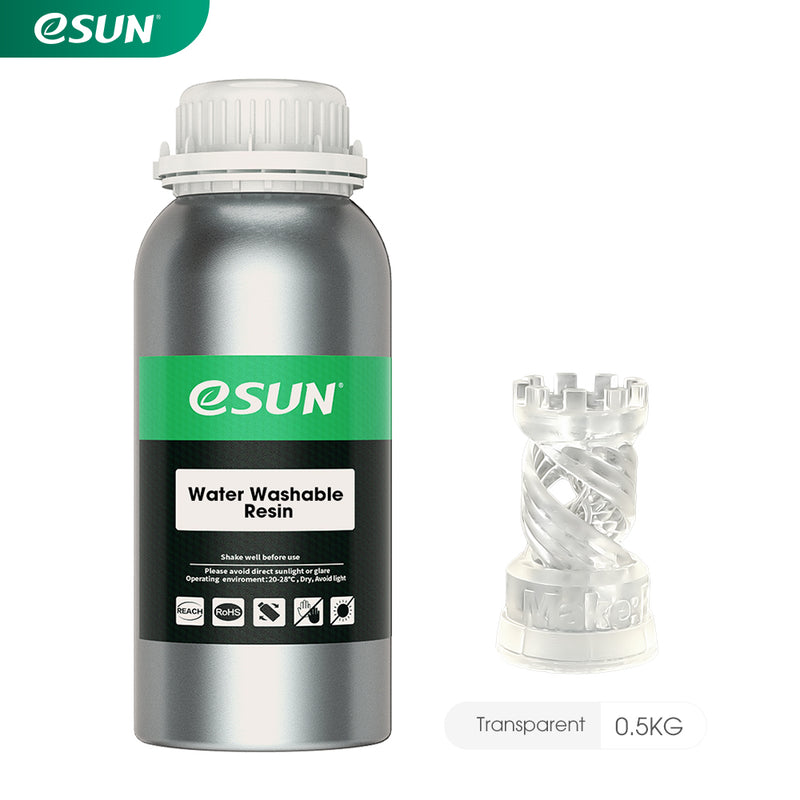 ESUN Water Washable Resin For LCD Printer 500g - Digitmakers.ca providing 3d printers, 3d scanners, 3d filaments, 3d printing material , 3d resin , 3d parts , 3d printing services