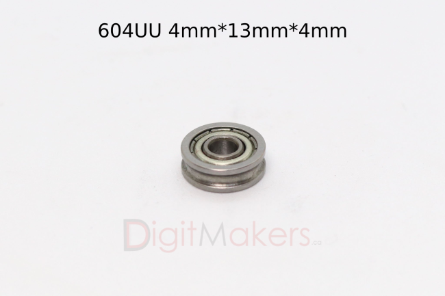 U type Ball Bearing 604UU - Digitmakers.ca providing 3d printers, 3d scanners, 3d filaments, 3d printing material , 3d resin , 3d parts , 3d printing services