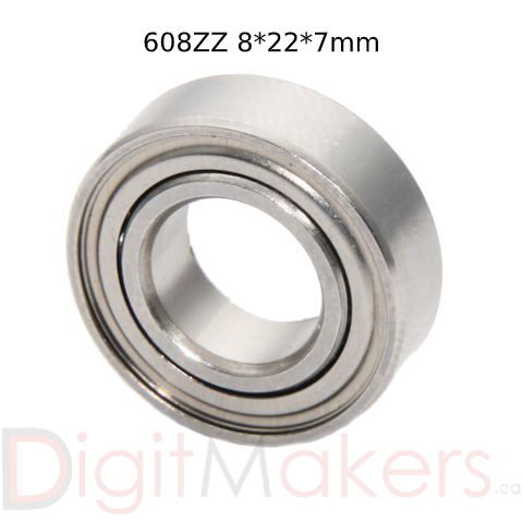 Ball Bearing 608ZZ - Digitmakers.ca providing 3d printers, 3d scanners, 3d filaments, 3d printing material , 3d resin , 3d parts , 3d printing services