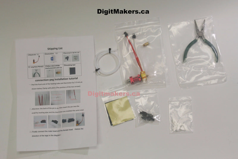 Creality 3D Printer Nozzle Assembly KIT - Digitmakers.ca providing 3d printers, 3d scanners, 3d filaments, 3d printing material , 3d resin , 3d parts , 3d printing services