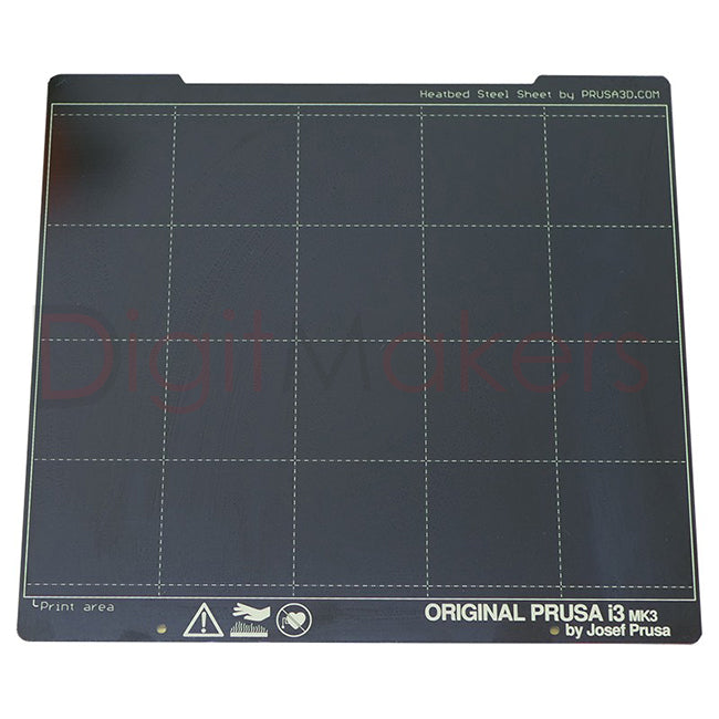 Spring Steel Sheet with Smooth Double-Sided PEI For i3 MK3S - Digitmakers.ca providing 3d printers, 3d scanners, 3d filaments, 3d printing material , 3d resin , 3d parts , 3d printing services
