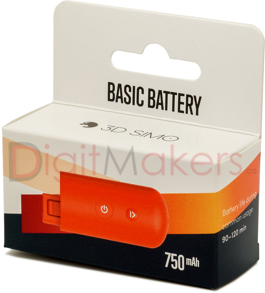 3DSIMO BASIC BATTERY - Digitmakers.ca providing 3d printers, 3d scanners, 3d filaments, 3d printing material , 3d resin , 3d parts , 3d printing services
