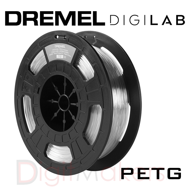 Dremel Digilab 3D Printer Filaments PETG-1.75- 0.5KG - Digitmakers.ca providing 3d printers, 3d scanners, 3d filaments, 3d printing material , 3d resin , 3d parts , 3d printing services