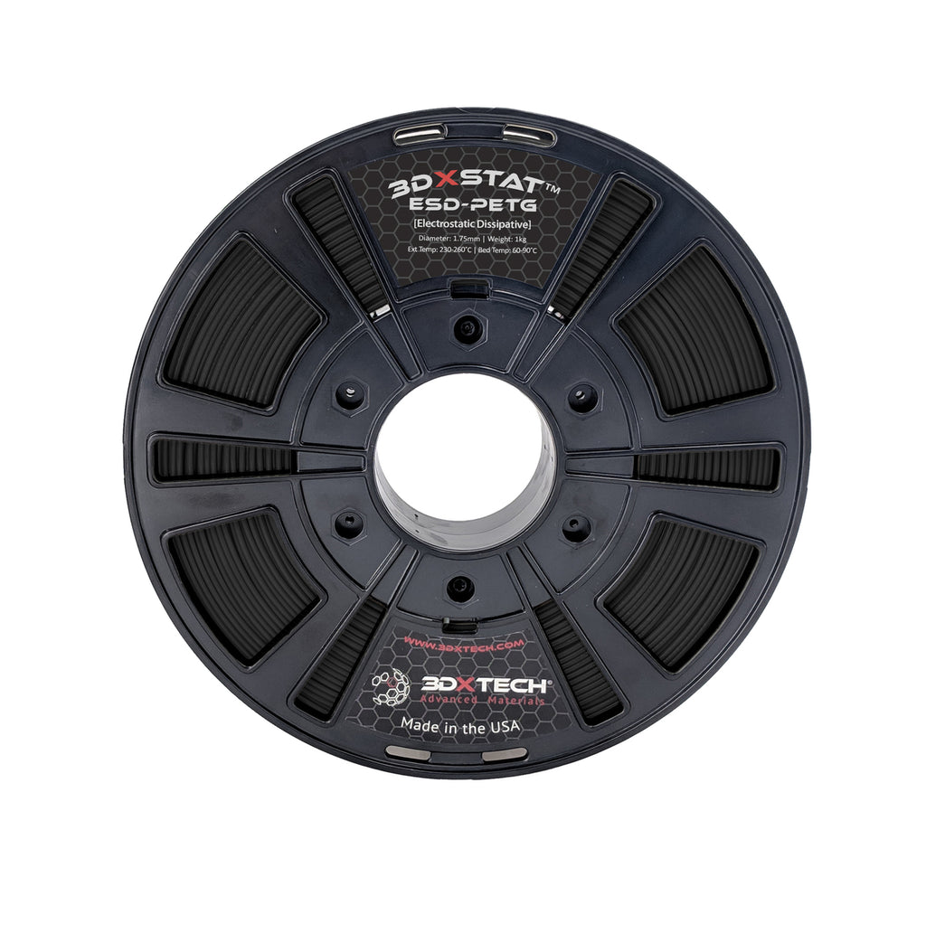 3DXSTAT ESD PETG Filament - Black various sizes - Digitmakers.ca