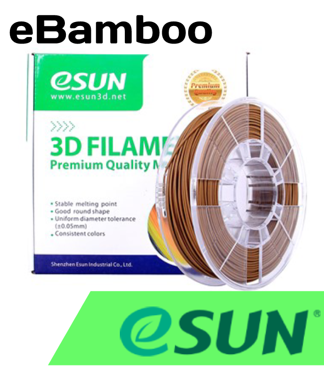 ESun eBamboo 1.75mm .5kg Spool - Digitmakers.ca providing 3d printers, 3d scanners, 3d filaments, 3d printing material , 3d resin , 3d parts , 3d printing services