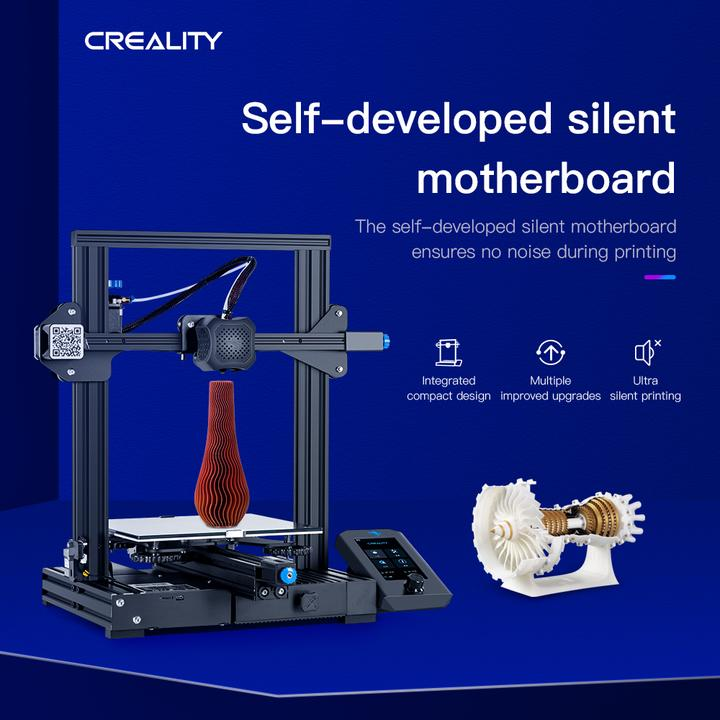 Creality Ender 3 V2 3D Printer - Digitmakers.ca providing 3d printers, 3d scanners, 3d filaments, 3d printing material , 3d resin , 3d parts , 3d printing services