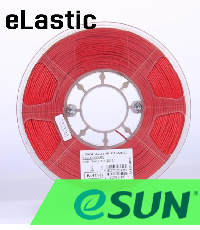 eSun eLastic TPE Flexible Filament 1.75mm .5kg 6 Colors - Digitmakers.ca providing 3d printers, 3d scanners, 3d filaments, 3d printing material , 3d resin , 3d parts , 3d printing services