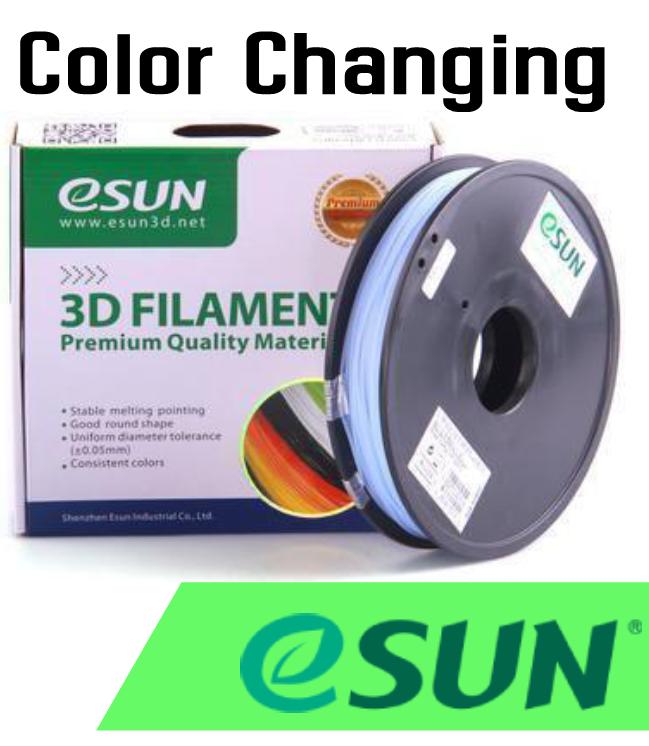 eSun UV Color Changing Filament 1.75mm .5kg - Digitmakers.ca