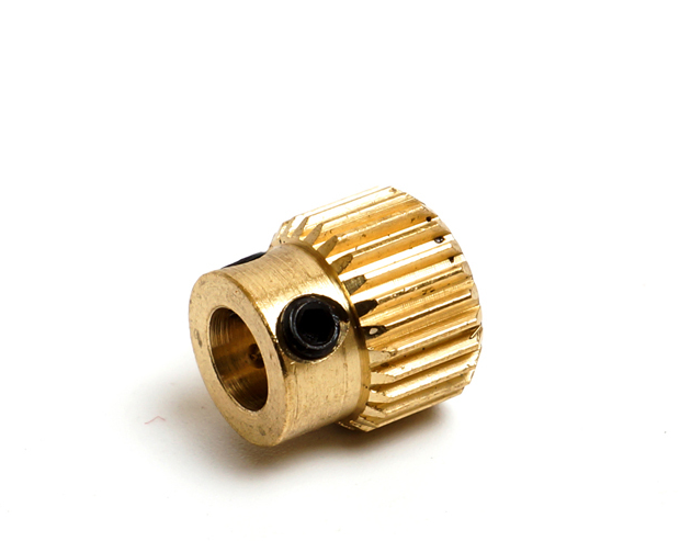3D Printer Extruder Drive Gear for 1.75mm & 3mm – Brass Pulley 5mm - Digitmakers.ca