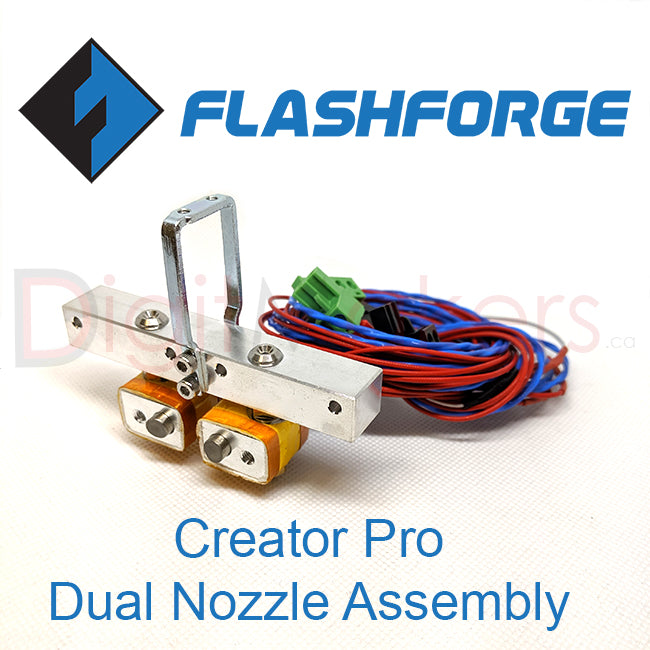Flashforge Creator Pro Extruder Assembly - Digitmakers.ca providing 3d printers, 3d scanners, 3d filaments, 3d printing material , 3d resin , 3d parts , 3d printing services