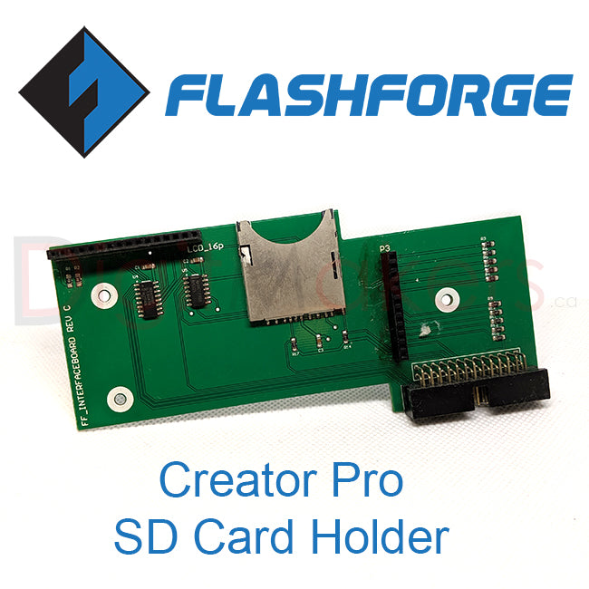 Creator Pro SD Card Holder - Digitmakers.ca providing 3d printers, 3d scanners, 3d filaments, 3d printing material , 3d resin , 3d parts , 3d printing services