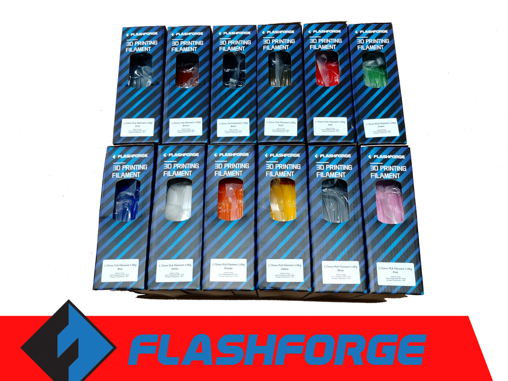 Flashforge PLA Filament 1.75mm, 1kg Spool (12 Colors) - Digitmakers.ca providing 3d printers, 3d scanners, 3d filaments, 3d printing material , 3d resin , 3d parts , 3d printing services