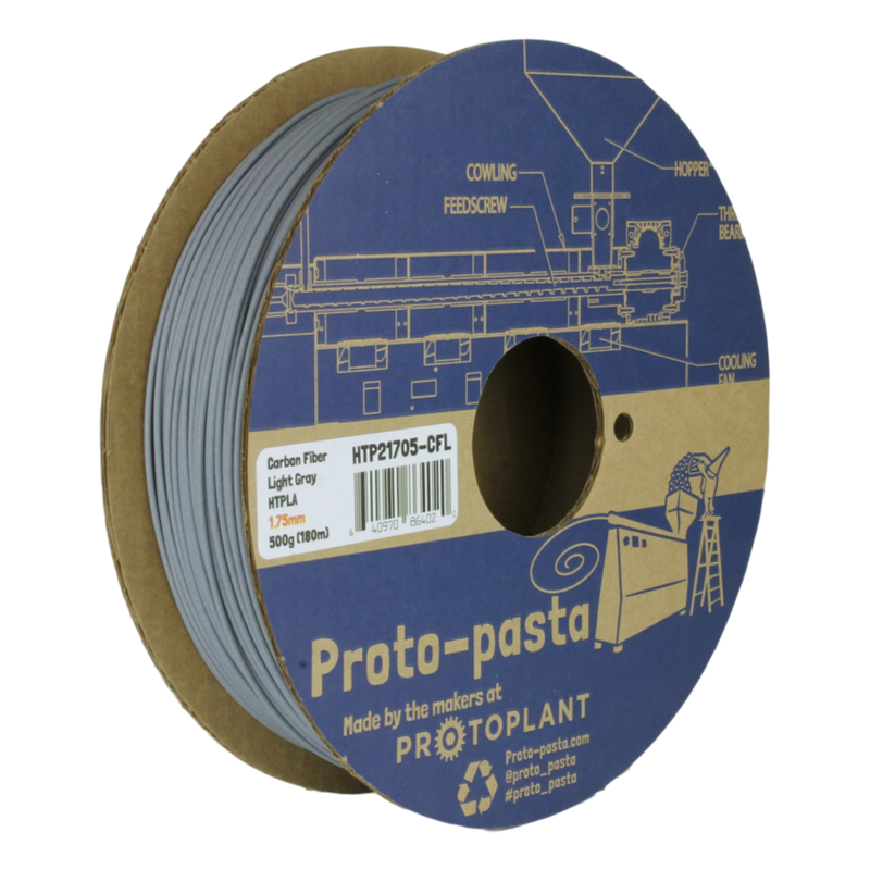 Protopasta High Performance HTPLA - Carbon Fiber - various colors - Digitmakers.ca providing 3d printers, 3d scanners, 3d filaments, 3d printing material , 3d resin , 3d parts , 3d printing services