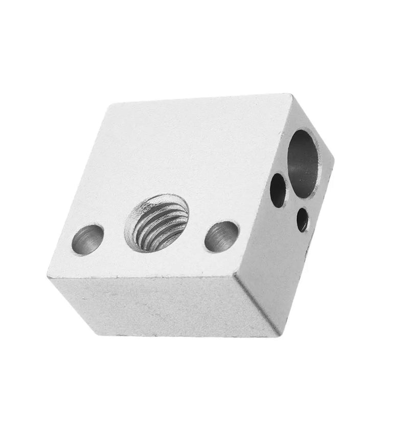 Creality CR10 MK8 Heater Block - Digitmakers.ca providing 3d printers, 3d scanners, 3d filaments, 3d printing material , 3d resin , 3d parts , 3d printing services