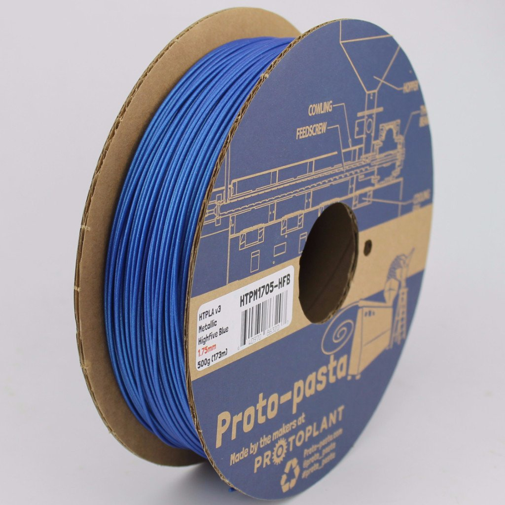 Protopasta HTPLA - Highfive Metallic Blue - 1.75 mm - 500g spool - Digitmakers.ca