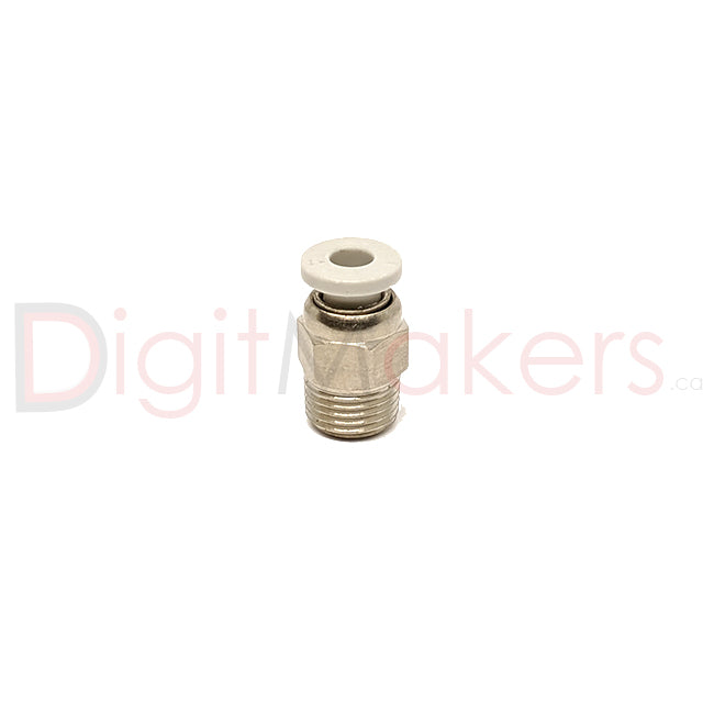 M10 Brass Pneumatic Connector Hotend Side - Digitmakers.ca providing 3d printers, 3d scanners, 3d filaments, 3d printing material , 3d resin , 3d parts , 3d printing services
