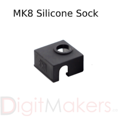 Silicone Sock for MK8 Heater Block CR10 - Digitmakers.ca providing 3d printers, 3d scanners, 3d filaments, 3d printing material , 3d resin , 3d parts , 3d printing services
