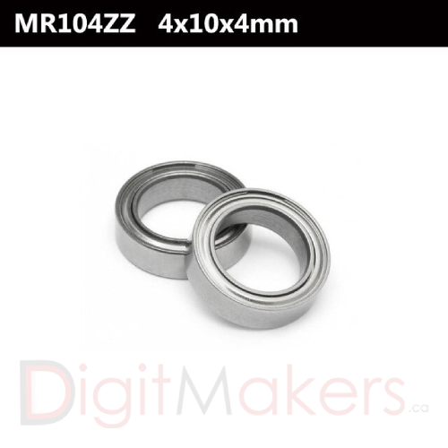 Ball Bearing MR104ZZ - Digitmakers.ca providing 3d printers, 3d scanners, 3d filaments, 3d printing material , 3d resin , 3d parts , 3d printing services