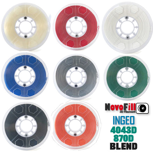 NovoFill Ingeo Filaments 1.75 mm various colors - Digitmakers.ca providing 3d printers, 3d scanners, 3d filaments, 3d printing material , 3d resin , 3d parts , 3d printing services