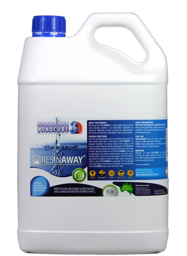 RESINAWAY - Monocure Advanced 3D UV Resin Cleaning Solution - 5L