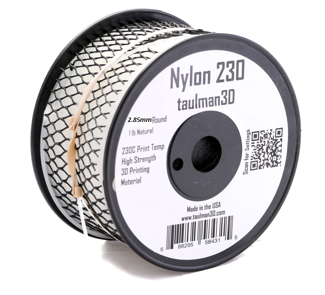 Taulman Nylon 230 Filament -2.85 mm - Digitmakers.ca providing 3d printers, 3d scanners, 3d filaments, 3d printing material , 3d resin , 3d parts , 3d printing services