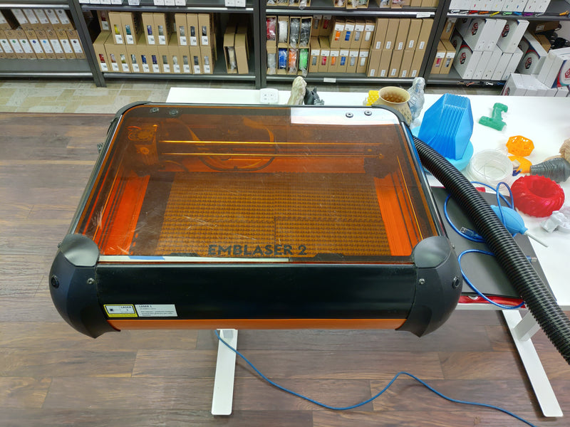 Used Emblaser 2 - Laser Cutter & Engraver - Digitmakers.ca providing 3d printers, 3d scanners, 3d filaments, 3d printing material , 3d resin , 3d parts , 3d printing services