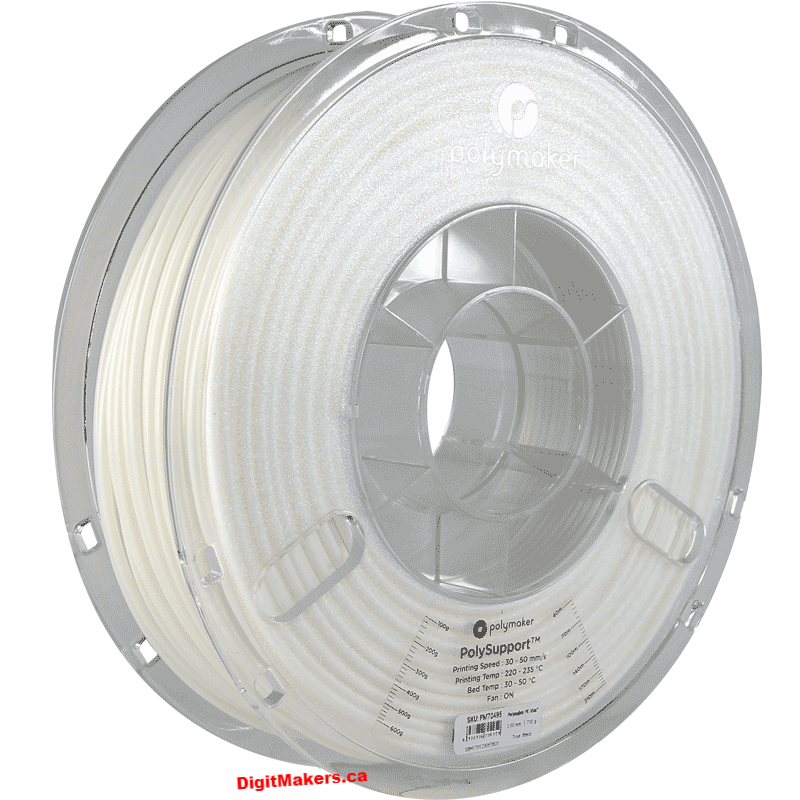 PolySupport Removable Support Filament - Pearl White - 1.75mm - Digitmakers.ca providing 3d printers, 3d scanners, 3d filaments, 3d printing material , 3d resin , 3d parts , 3d printing services