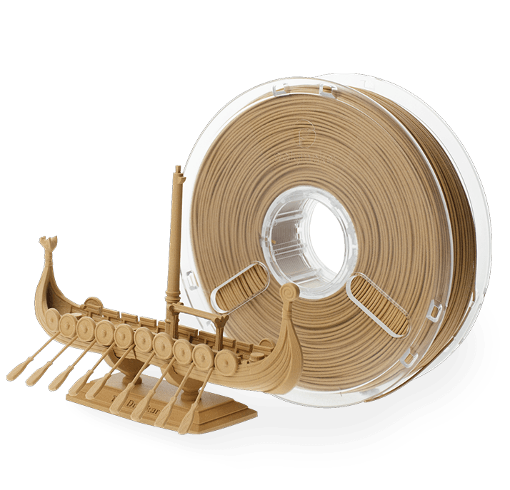 Polymaker PolyWood Filament - Wooden - 1.75 mm - Digitmakers.ca providing 3d printers, 3d scanners, 3d filaments, 3d printing material , 3d resin , 3d parts , 3d printing services