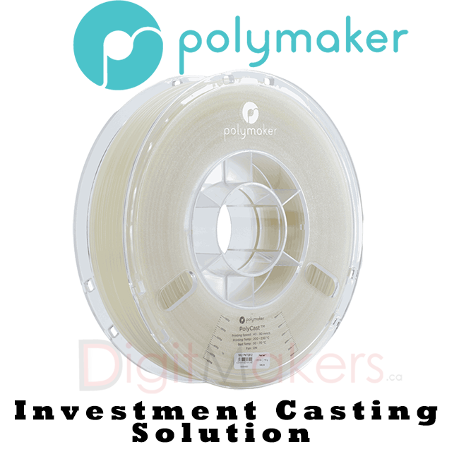 PolyCast™-Poly Maker 1.75MM - Digitmakers.ca providing 3d printers, 3d scanners, 3d filaments, 3d printing material , 3d resin , 3d parts , 3d printing services