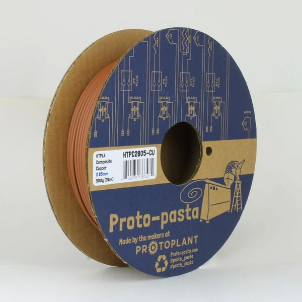 Protopasta Copper Metal Composite HTPLA - 1.75mm - Digitmakers.ca providing 3d printers, 3d scanners, 3d filaments, 3d printing material , 3d resin , 3d parts , 3d printing services