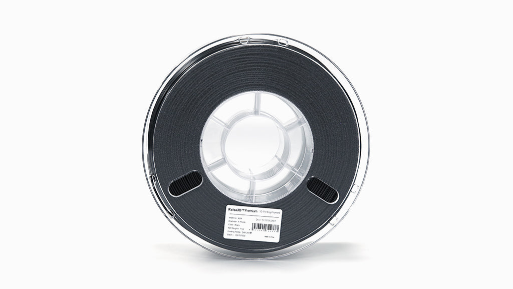 Raise3D Premium ASA Filament - Black 1.75mm 1kg