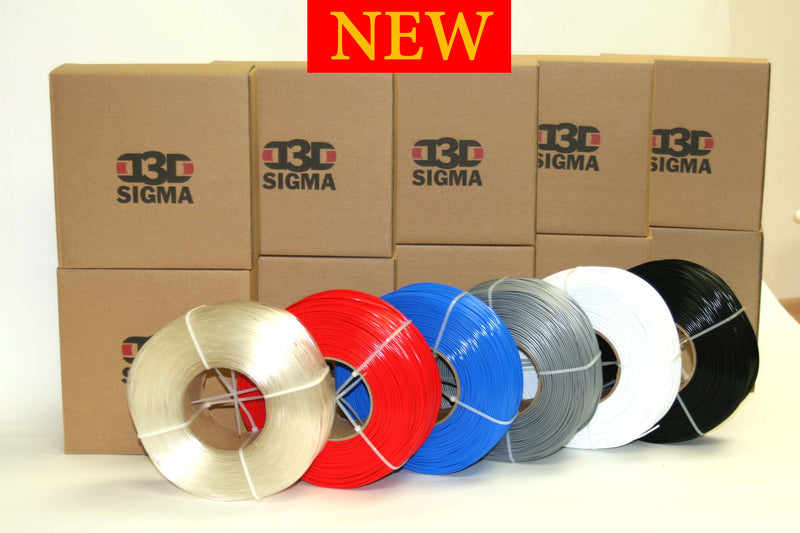D3D Sigma PETG 1.75mm 1kg Spooless Refill Various Colors