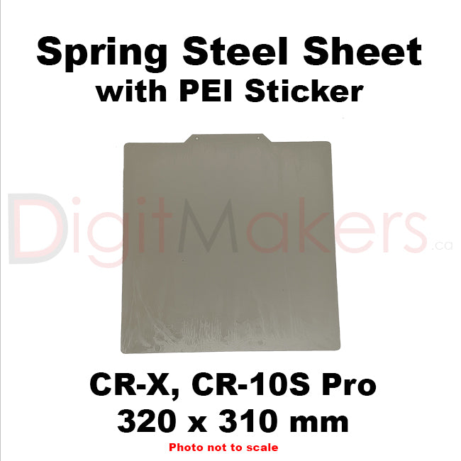 Spring Steel Sheet with PEI Coating Various Sizes - Digitmakers.ca providing 3d printers, 3d scanners, 3d filaments, 3d printing material , 3d resin , 3d parts , 3d printing services
