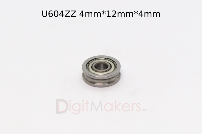 U type Ball Bearing U604ZZ - Digitmakers.ca providing 3d printers, 3d scanners, 3d filaments, 3d printing material , 3d resin , 3d parts , 3d printing services