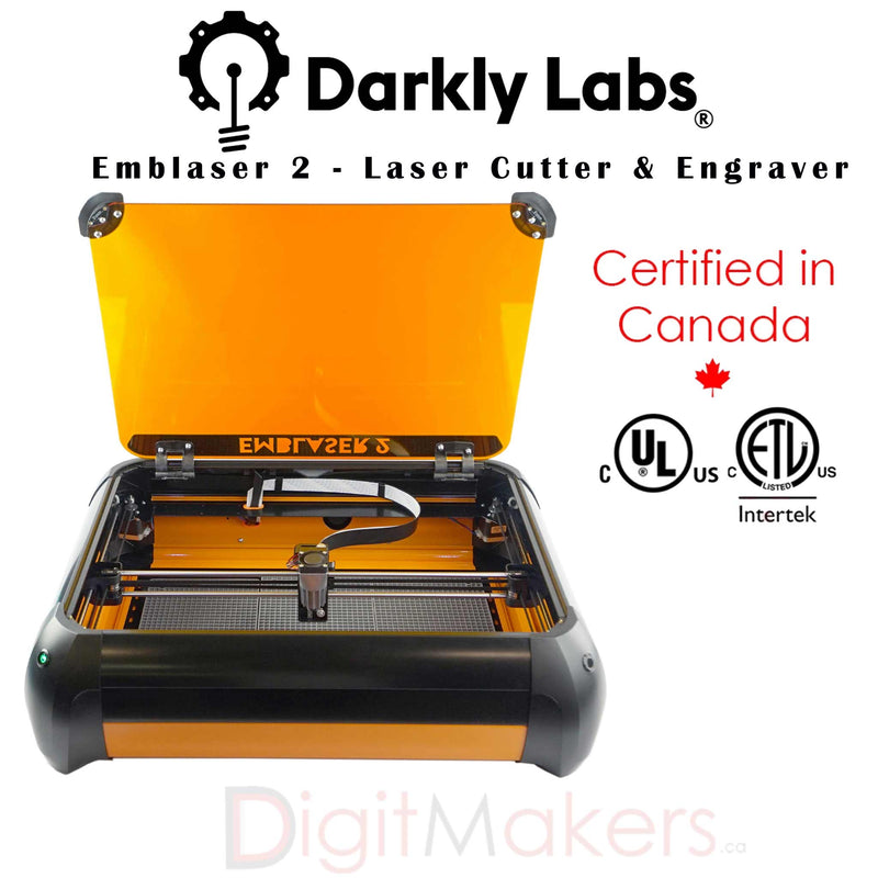 Emblaser 2 - Laser Cutter & Engraver - Digitmakers.ca providing 3d printers, 3d scanners, 3d filaments, 3d printing material , 3d resin , 3d parts , 3d printing services