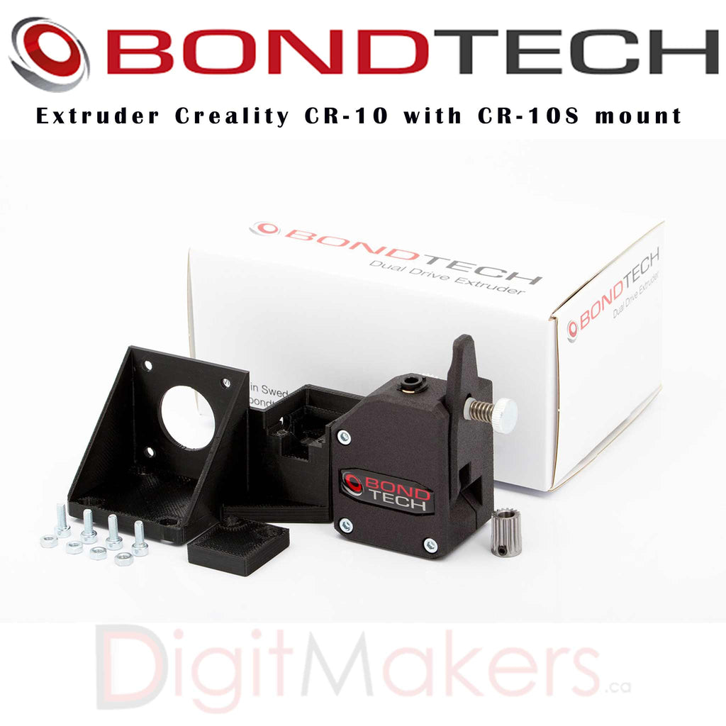 BondTech Extruder Creality CR-10 with CR-10S mount - Digitmakers.ca providing 3d printers, 3d scanners, 3d filaments, 3d printing material , 3d resin , 3d parts , 3d printing services