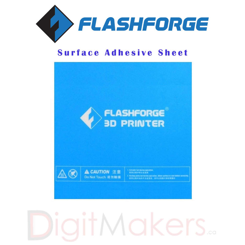 Flashforge Build Surface Adhesive Sheet - Digitmakers.ca providing 3d printers, 3d scanners, 3d filaments, 3d printing material , 3d resin , 3d parts , 3d printing services