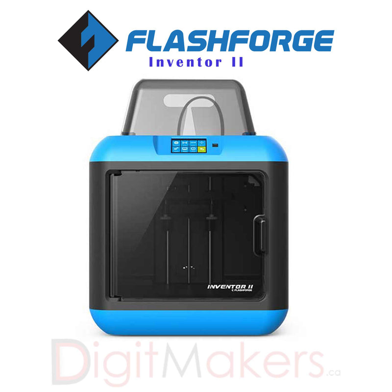 Flashforge Inventor II - Digitmakers.ca providing 3d printers, 3d scanners, 3d filaments, 3d printing material , 3d resin , 3d parts , 3d printing services