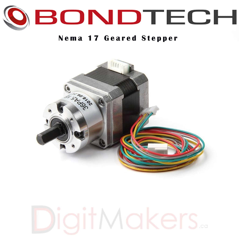 Bondtech Nema 17 Geared Stepper - Digitmakers.ca providing 3d printers, 3d scanners, 3d filaments, 3d printing material , 3d resin , 3d parts , 3d printing services