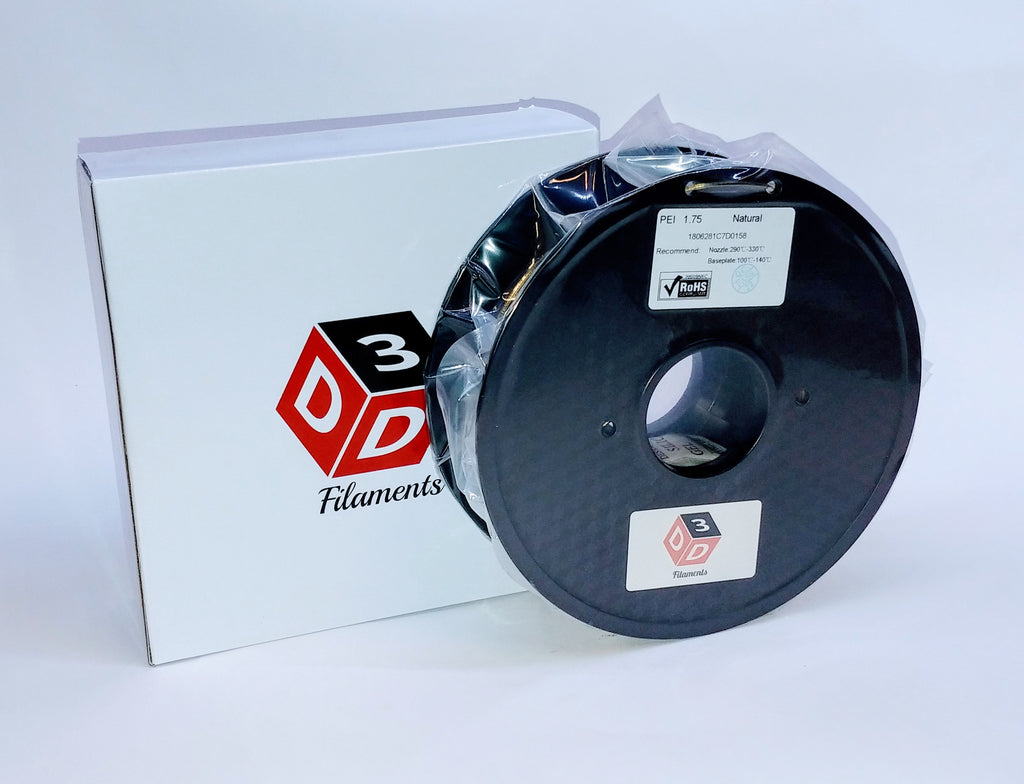 D3D ULTEM® PEI Filament, Natural, 1.75mm 500g - Digitmakers.ca providing 3d printers, 3d scanners, 3d filaments, 3d printing material , 3d resin , 3d parts , 3d printing services