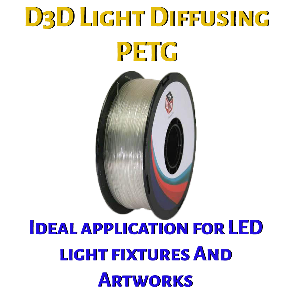 D3D Light Diffusing PETG 1.75 mm 1kg Spool - Digitmakers.ca