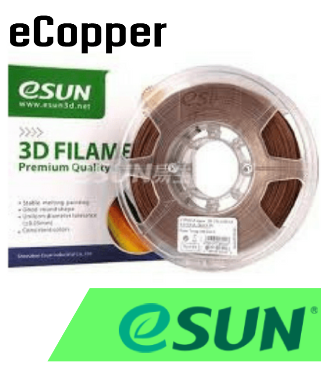 ESun  eCopper Filament 1.75mm .5kg - Digitmakers.ca providing 3d printers, 3d scanners, 3d filaments, 3d printing material , 3d resin , 3d parts , 3d printing services